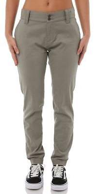 Rusty New Women's Revamp Womens Pant Cotton Fitted Spandex Green