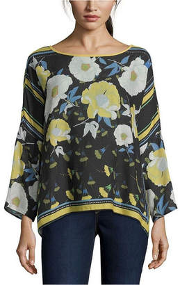 John Paul Richard Scarf Print Blouse