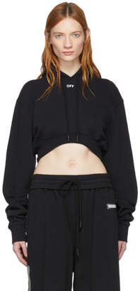Off-White Black Off Extra Crop Hoodie