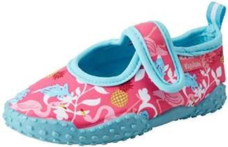 Playshoes GmbH Unisex Kids' Uv Protection Aqua Shoe Flamingo Water (Turquoise 15), 10.5 Child UK 28/29 EU