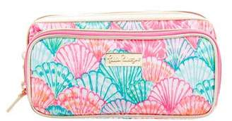 Lilly Pulitzer Leather-Trimmed Cosmetic Zip Pouch