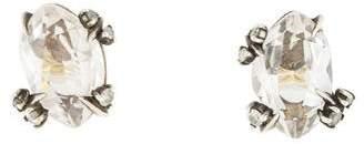 Alexis Bittar Quartz & Diamond Stud Earrings