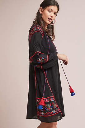 Velvet by Graham & Spencer Loane Embroidered Peasant Dress