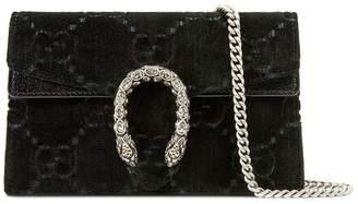 Gucci black Dionysus GG velvet super mini bag