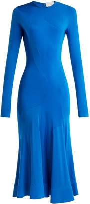 Esteban Cortazar Asymmetric-panelled jersey midi dress