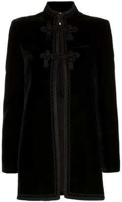 Saint Laurent tasselled mandarin collar silk jacket