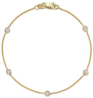 Bloomingdale's Diamond Station Bracelet in 14K Yellow Gold, .25 ct. t.w.