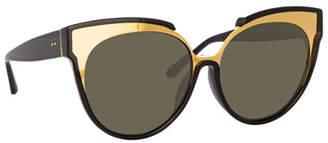 158643ea45b9 Linda Farrow Gold Women s Sunglasses - ShopStyle