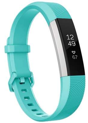 Fitbit Moretek Replacement Bands for Alta HR and Alta / Wristband Accessory with Metal Clasp Fitness Wrist Straps Small Large Size Silicone Bracelet Strap band(cyan)