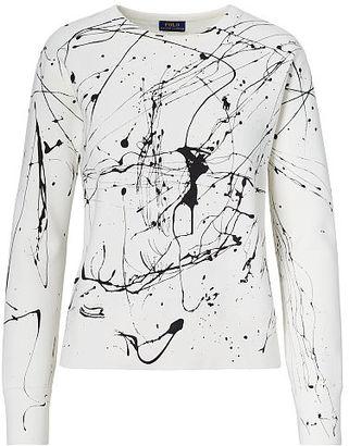 Polo Ralph Lauren Paint-Splatter Fleece Pullover $125 thestylecure.com