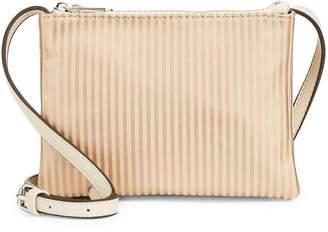 Design Lab Striped Faux Leather Crossbody Bag