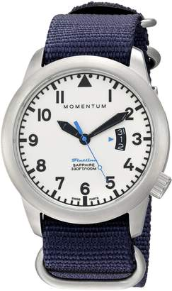 Momentum Men's 1M-SP18LS7U Analog Display Swiss Quartz Blue Watch