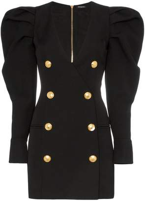 Balmain puff sleeve mini dress