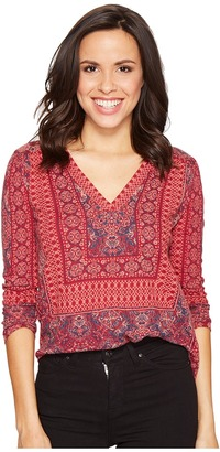 Lucky Brand - Border Print Top Women's Clothing $59.50 thestylecure.com