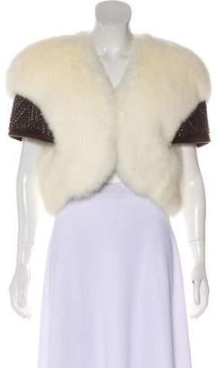 Thomas Wylde Embellished Shearling Jacket