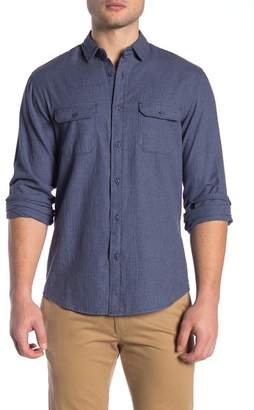 WALLIN & BROS Solid Long Sleeve Flannel Shirt