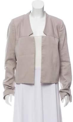 Halston Leather-Trimmed Blazer