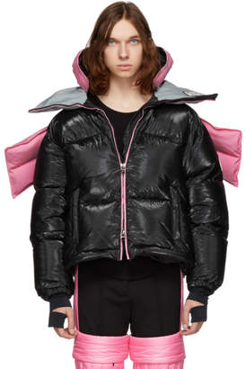 Colmar A.G.E. by Shayne Oliver Pink and Black Down Tyvek Concept Coat
