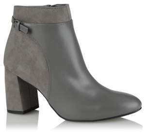 George Grey Buckled Panelled Boots