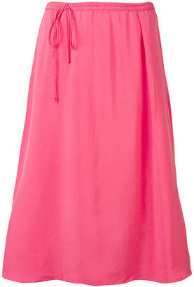 Humanoid midi skirt with off-centre fastening