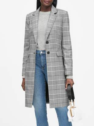 Banana Republic Plaid Top Coat
