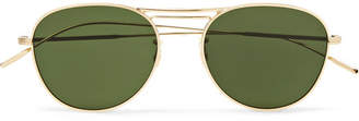 Oliver Peoples Cade Aviator-Style Gold-Tone Sunglasses - Men - Gold