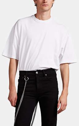 Balenciaga Men's Gothic-Logo Jersey T-Shirt - Cream