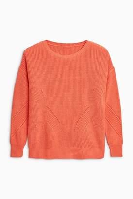 Next Womens Navy Rib Sweater