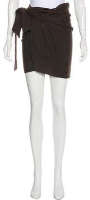 Isabel Marant Virgin Wool Knee-Length Wrap Skirt w/ Tags
