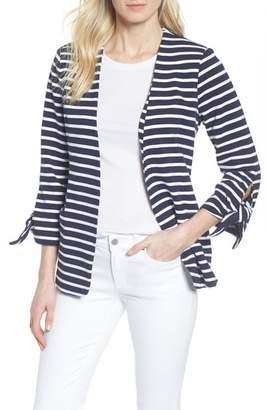 Olivia Moon Gibson Tie Sleeve Knit Blazer