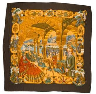 Hermes Splendeur des Maharajas Cashmere Silk Shawl