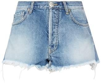 Alanui Embellished Denim Patch Shorts