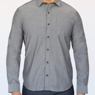 Blade + Blue Solid Grey Melange Shirt - Clem