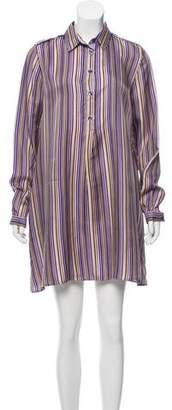 Etro Striped Button-Up Shirtdress