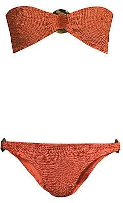 Hunza G Women's Gloria Ring Detail Bandeau Bikini Set
