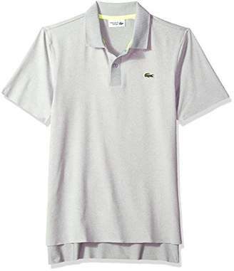 Lacoste Men's Short Sleeve Jersey Aspect Chine with Jacquard Collar Polo