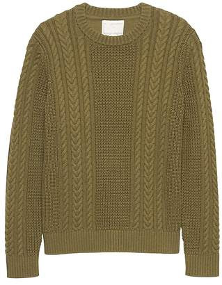 Banana Republic Heritage SUPIMA® Cotton Cable-Knit Crew-Neck Sweater