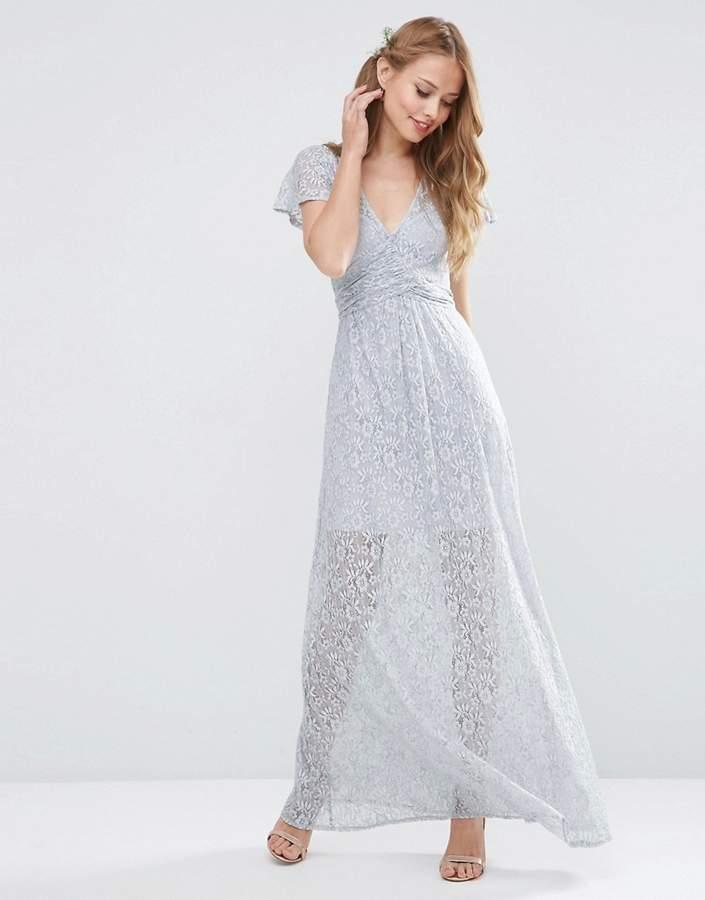 Asos Wedding Lace Wrap Tie Maxi Dress - ShopStyle.co.uk Women