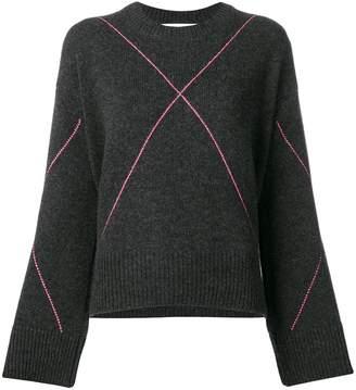 Giada Benincasa large argyle jumper