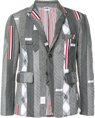 Thom Browne Suiting Tie Embroidery Sport Coat