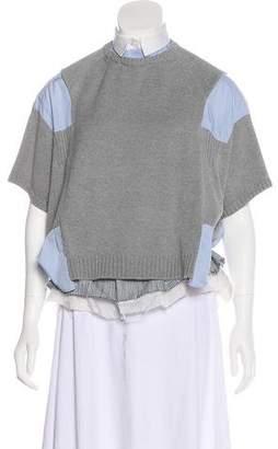 Sacai Short Sleeve Layered Top