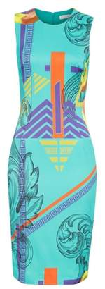 Versace Abstract Print Sheath Dress