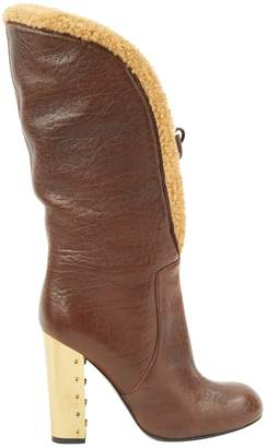Sonia Rykiel Brown Leather Boots