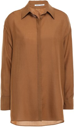 Agnona Wool And Cashmere-blend Shirt