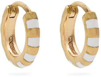 Enamel & yellow-gold earrings