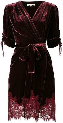 Gold Hawk velvet finish dress