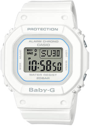 Baby-G Women's Digital White Resin Strap Watch 40mm