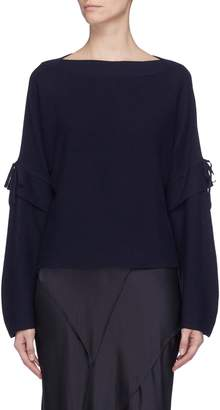 Vince Tie sleeve wool knit boat neck top