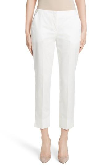 Women's Armani Collezioni Stretch Cotton Ankle Pants