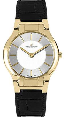 Pierre Petit Women's 'Serie Laval' Quartz Stainless Steel and Leather Casual Watch